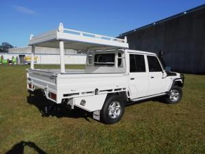 Heavy Duty Aluminium Tray Toyota Landcruiser Double Cab